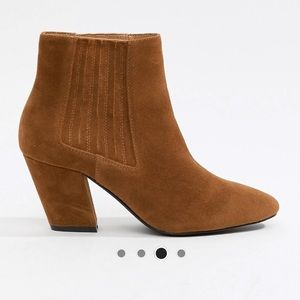 ASOS Camel Ankle Booties